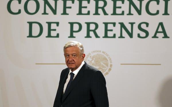 メキシコのロペスオブラドール大統領=AP