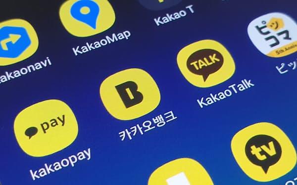 カカオは会話アプリを基点に金融・移動・コンテンツなどに事業を広げている
