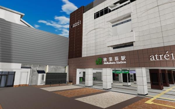 「バーチャル秋葉原駅」の外観(画像は開発中のもの)
