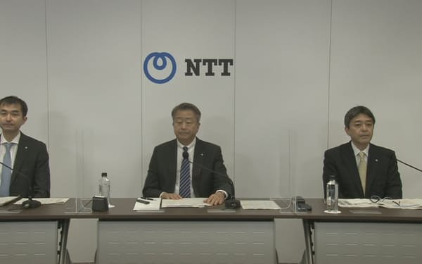 NTTの澤田純社長はオンライン専用プランの加入者数が180万件を超えたと明らかにした