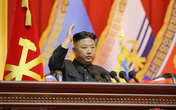 北朝鮮の経済状況は悪化している(金正恩総書記)=朝鮮中央通信・ロイター