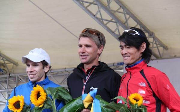 2011年、スイスの大会で3位になり表彰台に。引退から復帰した地元選手が4位だったと後で知り、彼の前で無邪気に喜んだ行為を反省した