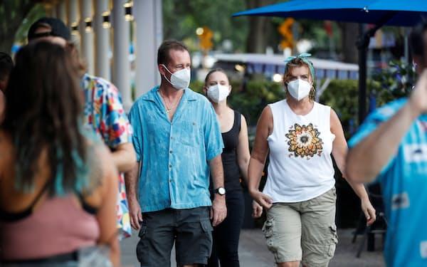 南部フロリダ州で感染者が急拡大している(6日)=ロイター