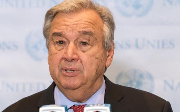 国連のグテレス事務総長はIPCCが公表した報告書は「人類にとっての警報だ」と強調した=国連提供