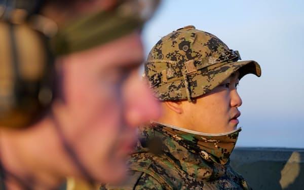軍事演習する韓国軍と米軍(2019年)=ロイター