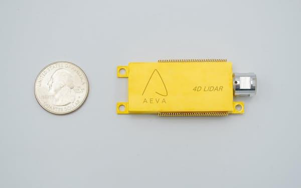 米Aevaは高性能なLiDARを小型のチップに収めた(同社提供)