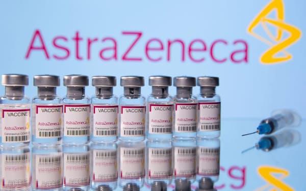 アストラゼネカ製の新型コロナウイルスワクチンの瓶(ロイター=共同)