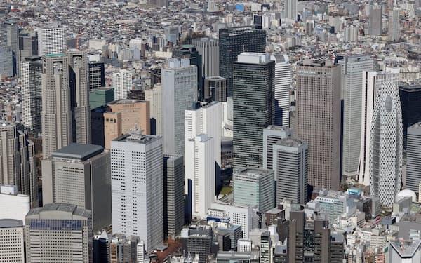 東京・新宿のビル群