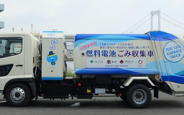 東京都などは港区内で燃料電池車のゴミ収集車の運用を始める