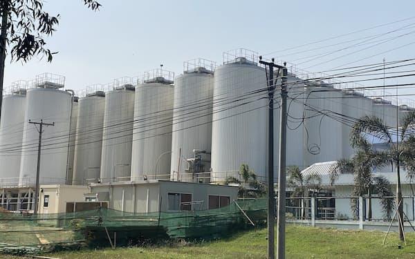 キリンが国軍企業との合弁で手掛けるビール工場(1月、ヤンゴン郊外)