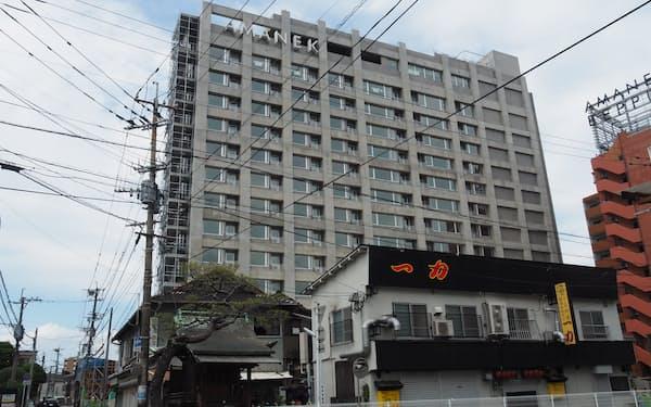 12月の開業を目指して工事が進む「ホテルアマネク別府ゆらり」(大分県別府市)