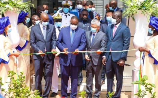 セネガルでは中国政府とファーウェイが協力したデータセンターが稼働(6月、在セネガル中国大使館のウェブサイトより)
