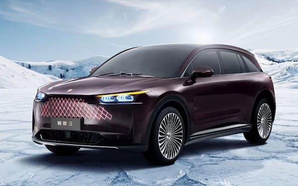 中国恒大新能源汽車が開発するEVのイメージ