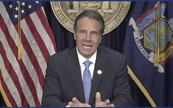 米ニューヨーク州のクオモ知事は10日、辞意を表明した=AP