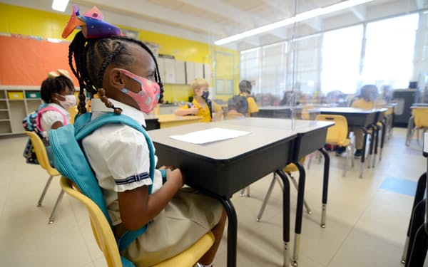 米ミシシッピ州では学校が再開し、生徒の感染が増えている=The Enterprise-Journal・AP