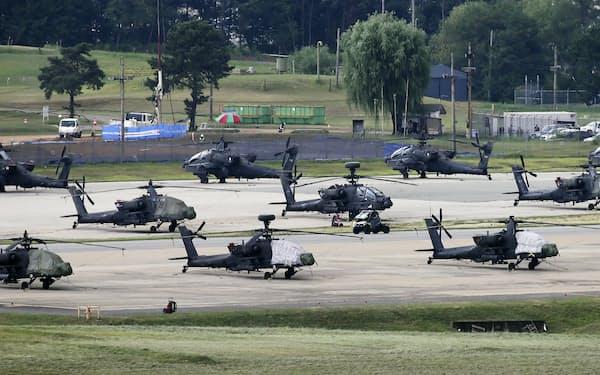 10日、在韓米軍基地キャンプ・ハンフリー。米韓両軍は合同軍事演習を事実上開始した=聯合・共同