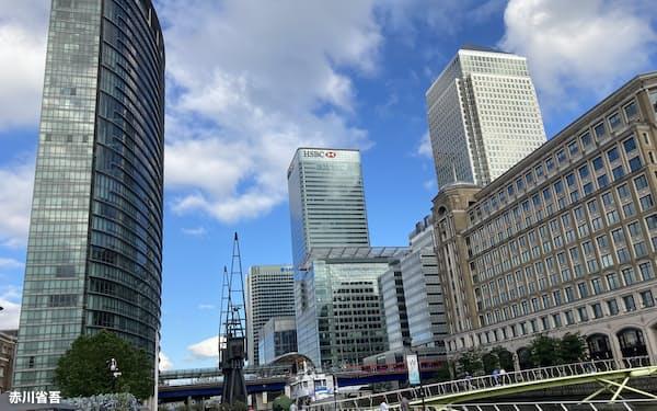 ロンドンのカナリー・ワーフ地区の摩天楼は200年前、外洋とロンドンを結ぶ港湾施設だった