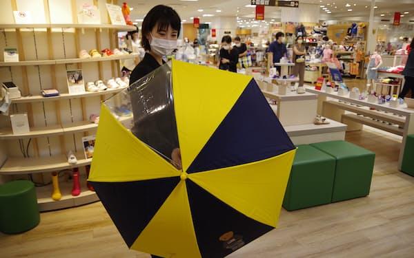 高島屋の子供用日傘売り場
