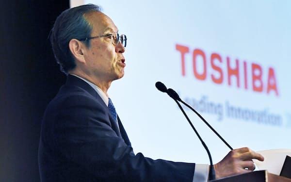 東芝の綱川社長が、企業統治改革の進捗で何を語るかが注目される。