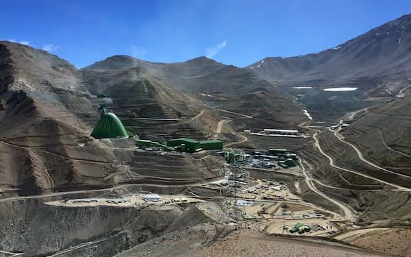 ストライキが発生したカセロネス銅鉱山(チリ)