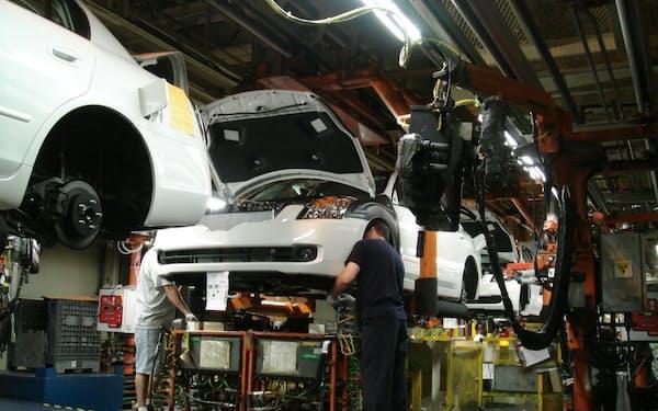 日産はテネシー州の工場を2週間休止する(スマーナ工場の組み立てライン)
