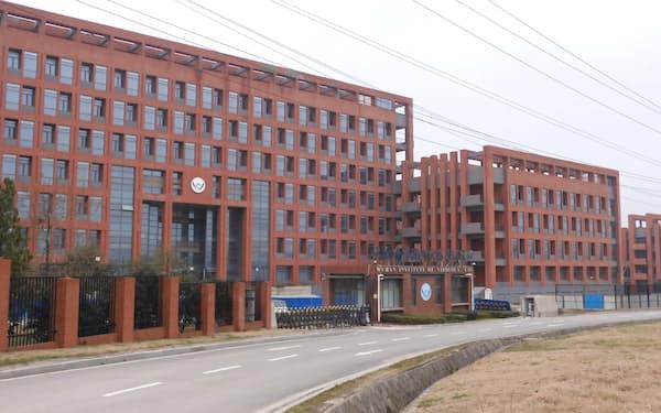 湖北省武漢市にある中国科学院武漢ウイルス研究所(21年2月)