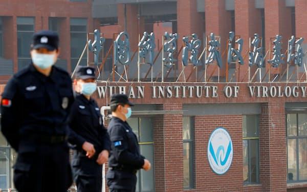 バイデン米政権が「流出」を疑う中国科学院武漢ウイルス研究所(2月、湖北省武漢市)=ロイター