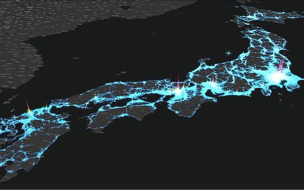 アグープは位置情報のビッグデータ解析の技術開発を進めてきた