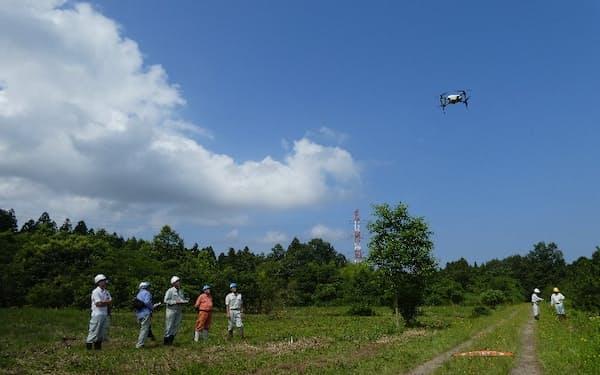 石川県などがドローンで森林の様子を撮影した