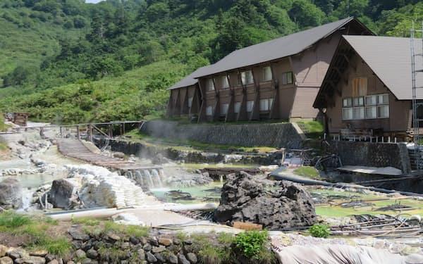 現在も多くの利用客がある玉川温泉(秋田県仙北市)