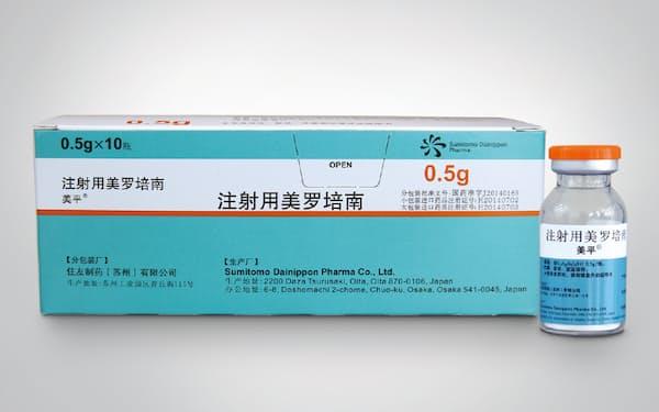 中国事業の大黒柱である抗生物質「メロペン」