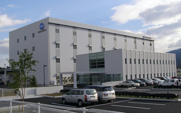 爆発事故が発生したコニカミノルタサプライズの辰野工場(長野県辰野町)