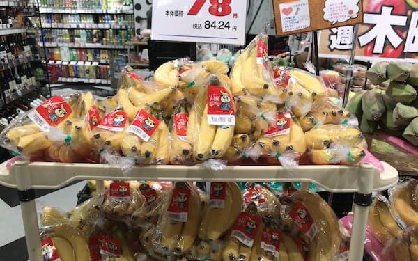 売れ行きが鈍い(8月、東京都世田谷区の食品スーパー)