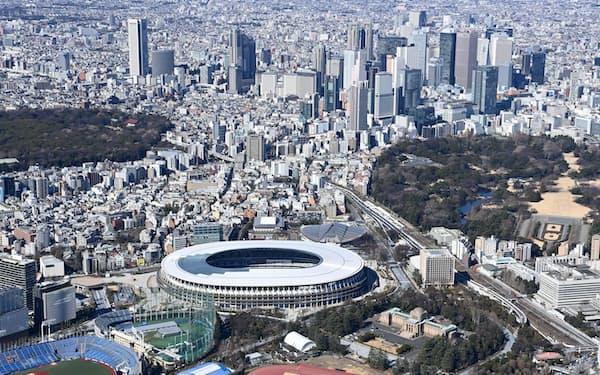 都道府県はスポーツ振興などに五輪のレガシー効果を期待(メイン会場だった国立競技場)
