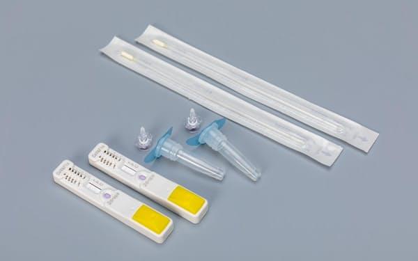 H.U.グループホールディングスが9月にも発売する、新型コロナウイルスと季節性インフルエンザの感染の有無を同時に検査できるキット