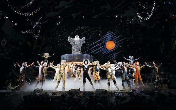 劇団四季のミュージカル「キャッツ」=重松 美佐撮影