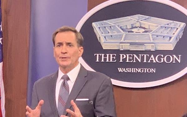 13日、米国防総省のカービー報道官は「タリバンの進軍のスピードを懸念している」と語った(国防総省)