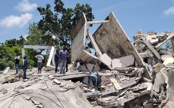 ハイチで地震による被害が拡大している=AP