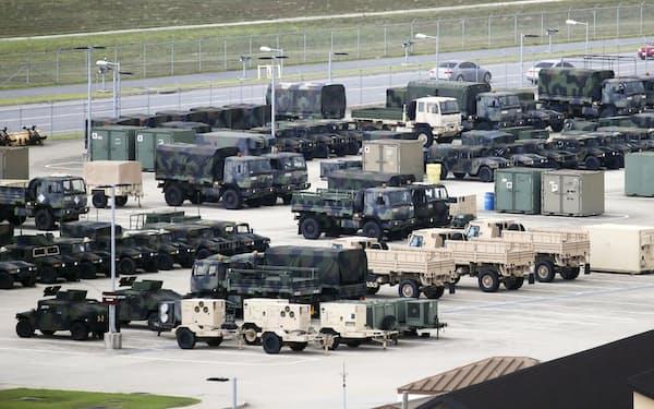韓国・平沢の米軍基地キャンプ・ハンフリー=聯合・共同