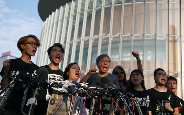 民間人権陣線は香港の大規模デモを主導してきた(2019年6月の記者会見)=ロイター