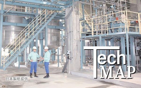 日本製紙石巻工場にある世界最大級の量産施設(宮城県石巻市)