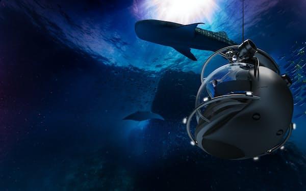 シーバルーンが提供する海中旅行のイメージ
