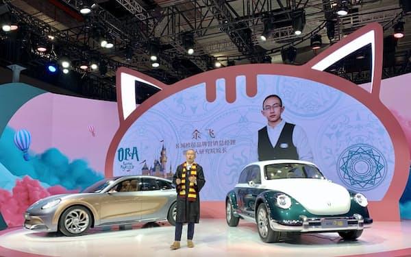 長城汽車の小型EVはデザインで人気だ(4月上海)