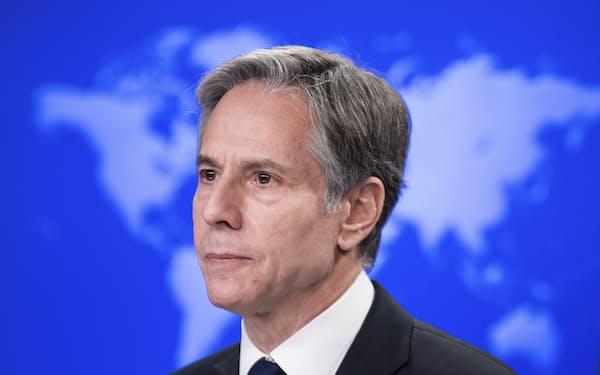 ブリンケン米国務長官は16日、中国の王毅国務委員兼外相、ロシアのラブロフ外相と相次ぎ電話会談した=AP