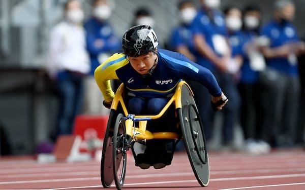 東京パラリンピックのテスト大会に参加した佐藤(5月、国立競技場)