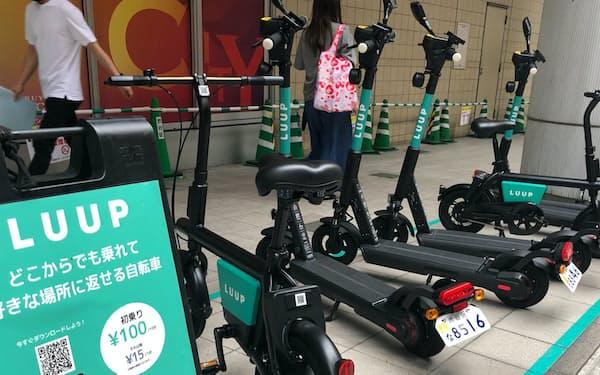 東京都内と大阪市内に専用駐輪場を設置している