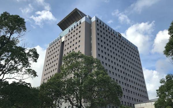 鹿児島県でまん延防止措置が適用される(県庁)