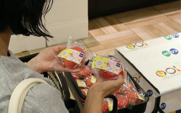 グローリーは野菜の食味表示による消費行動の変化を探り、データを収集する(同社提供)