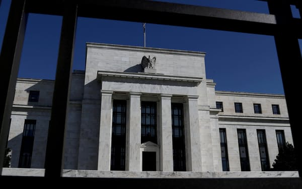 FILE PHOTO: Federal Reserve Board building is pictured in Washington, U.S., March 19, 2019. REUTERS/Leah Millis//File Photo