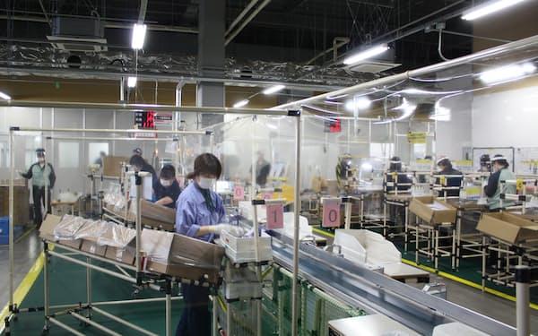 エプソンは在宅需要を背景にインクジェットプリンターの好調な販売が続く(長野県塩尻市の広丘事業所)